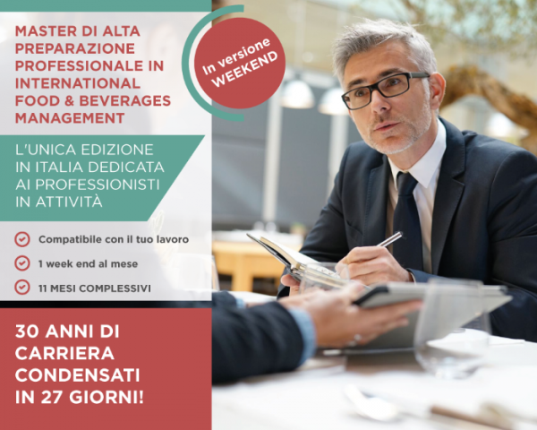 Master in Food Beverages Management - edizione Ween End